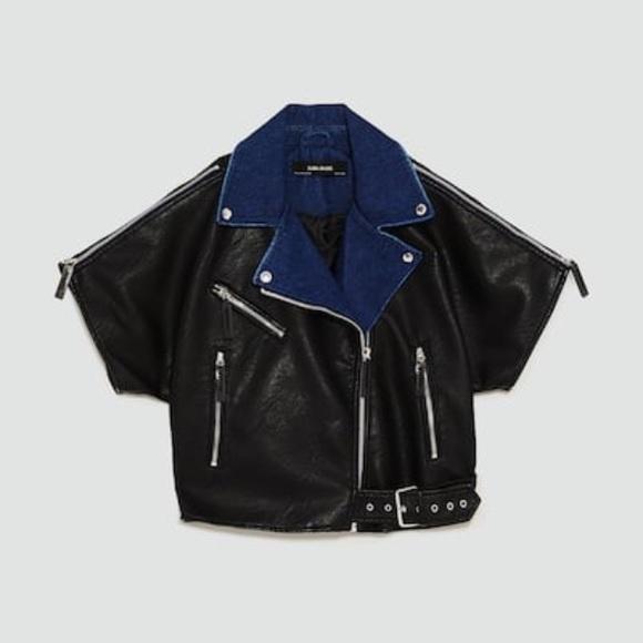7e0ae045 Zara Jackets & Coats | Nwt Contrasting Biker Jacket | Poshmark
